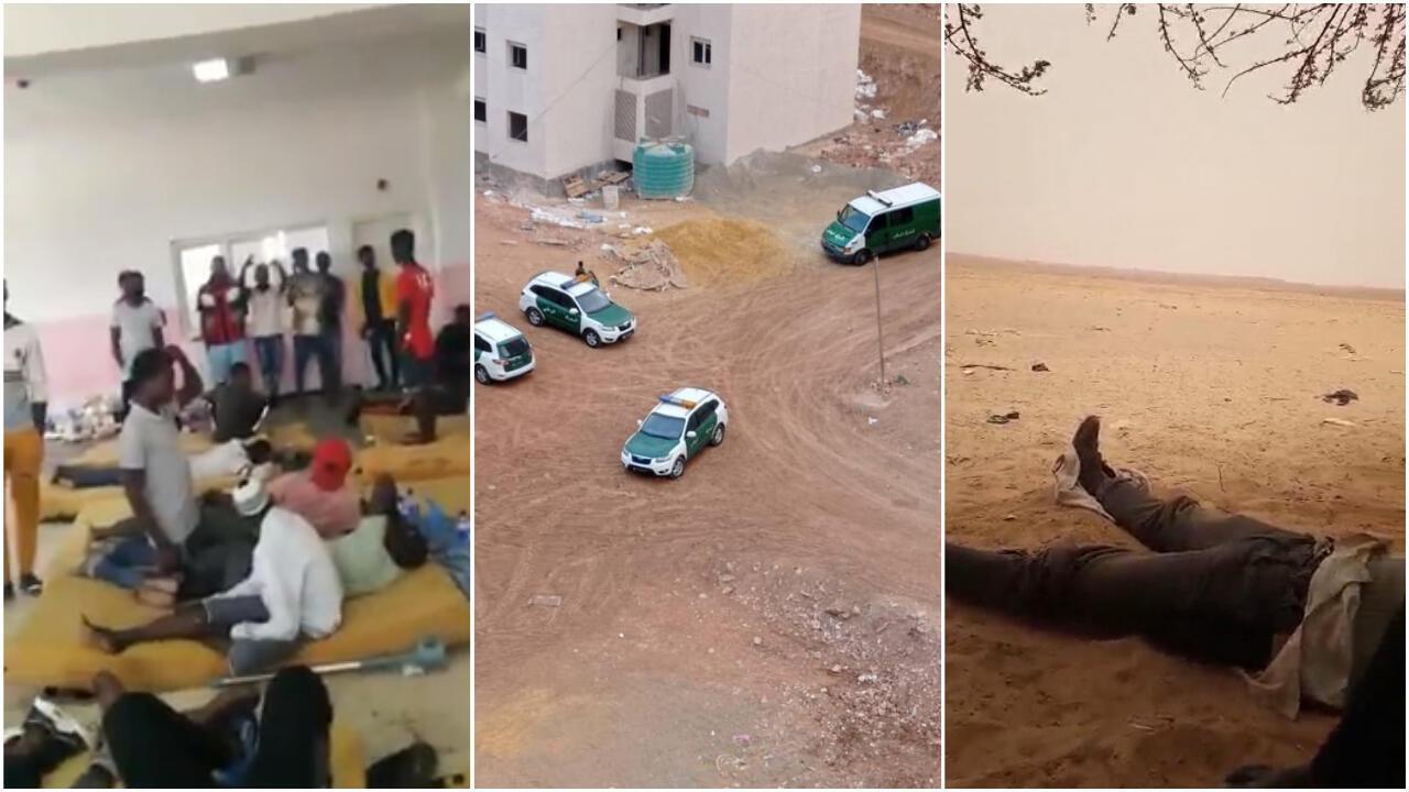"""En Algérie, plusieurs personnes ont alerté la rédaction des Observateurs de France 24 sur de nouvelles arrestations à Oran et des opérations de """"refoulement"""" vers le Niger. Captures d'écran / images envoyées à la rédaction des Observateurs de France 24."""