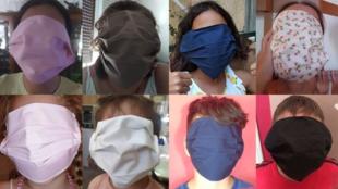 عکسهایی از ماسکهای توزیع شده بین دانشآموزان یونانی که در توییتر منتشر شدهاند.