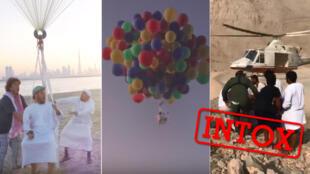 شایعه پرواز و مرگ مرد اماراتی با بادکنک هلیومی