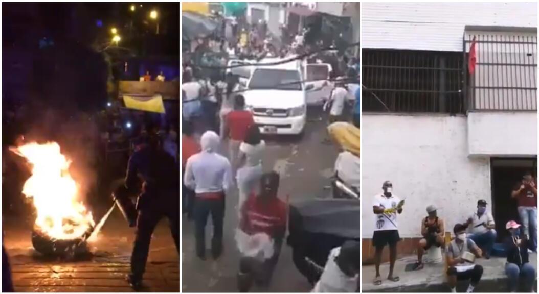 Captures d'écran de vidéos ci-dessous, tournées à Medellin, en Colombie, à la mi-avril.