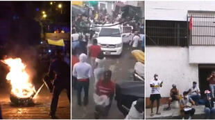 Screengrabs of the video (below), which was filmed in Medellin, Colombia in mid-April.