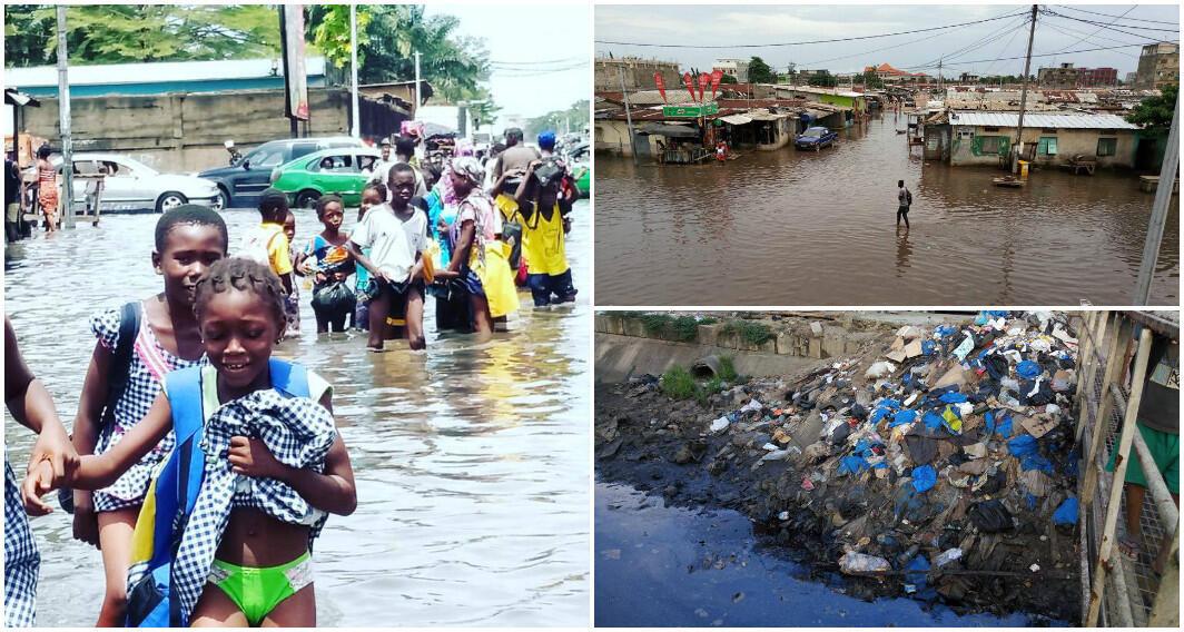 Photos des inondations dans le quartier de Koumassi. Images transmises par notre Observateur.