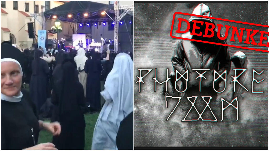Two versions of the same video on Facebook have been viewed almost 20 million times. They show nuns dancing to two different soundtracls: one by the death metal techno band Phuture Doom, the other by Polish Christian children's group Male TGD.