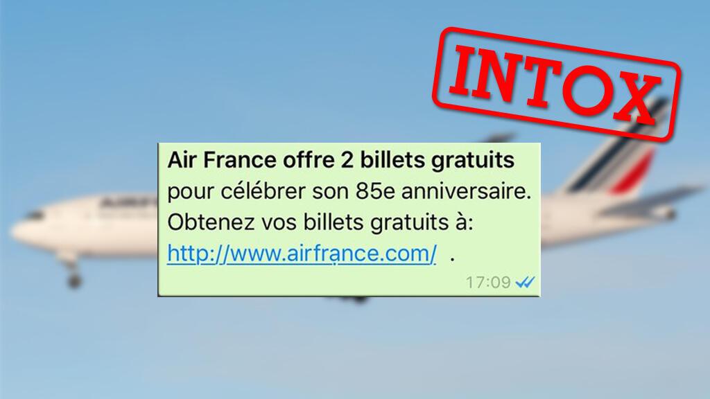 De nombreux utilisateurs francophones ont reçu cette soit-disant offre exceptionnelle venant a priori du site d'Air France... une arnaque finement préparée.