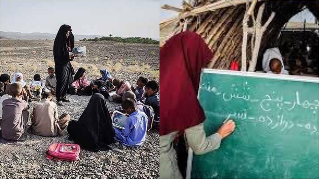 De nombreuses images circulent en Iran pour montrer le faible niveau d'équipement des écoles, et l'impossibilité de mettre en place un enseignement à distance pour tous.