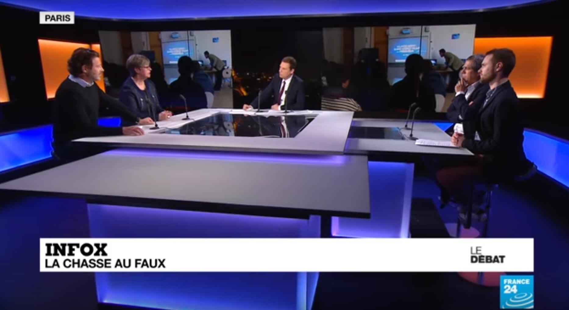 Dans le Débat de France24 lundi 18mars, un panel d'invités est revenu sur la question de la lutte contre les fausses informations.