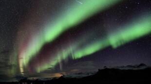 An aurora borealis on October 7, captured near Olafsvik in western Iceland. Photo: Stefán Guðmundsson