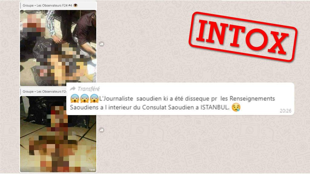 Capture d'écran de photos reçues par la rédaction des Observateurs de France 24.