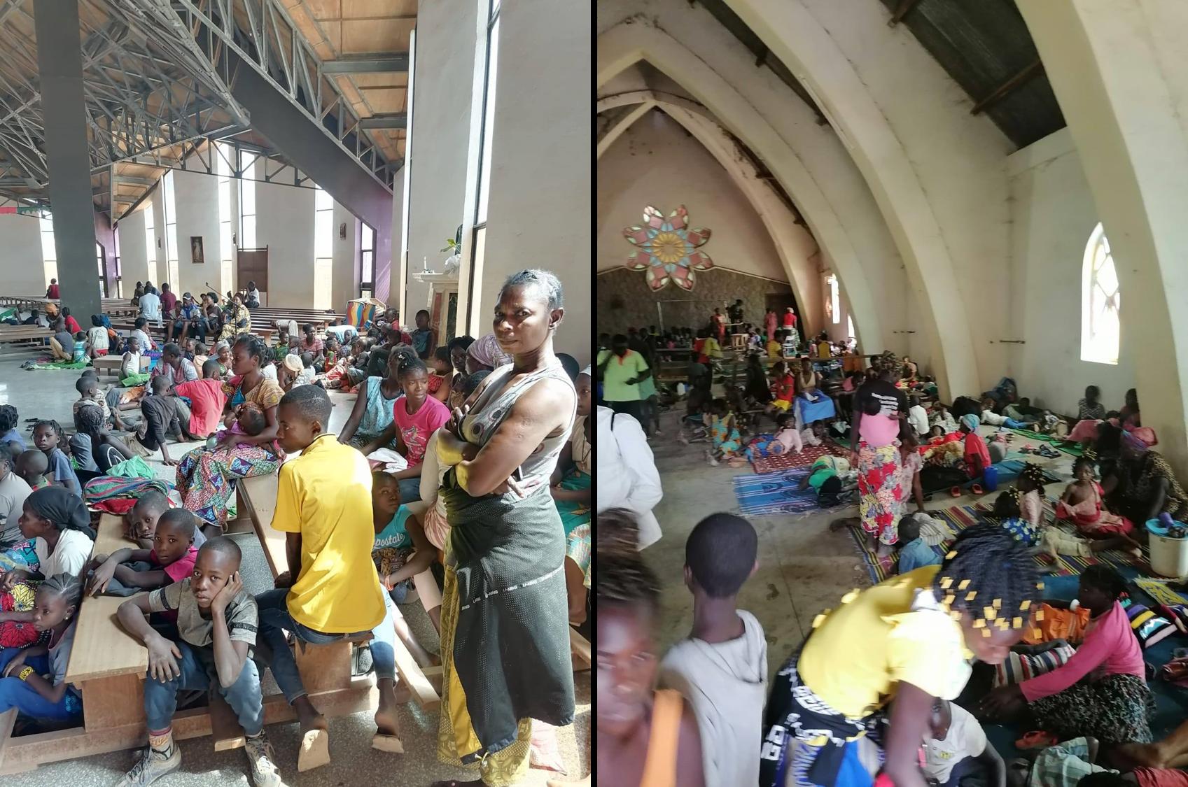 Photo réfugiés cathédrale Bouar