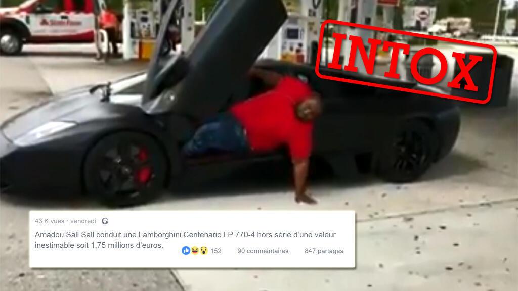 Une vidéo prétend montrer le fils du président Macky Sall peiner à sortir d'une Lamborghini dont il a auparavant fait chauffer le moteur.