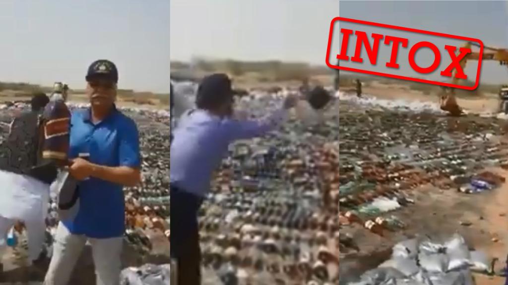 Cette destruction massive de bouteilles d'alcool n'a pas lieu en Iran mais... au Pakistan.