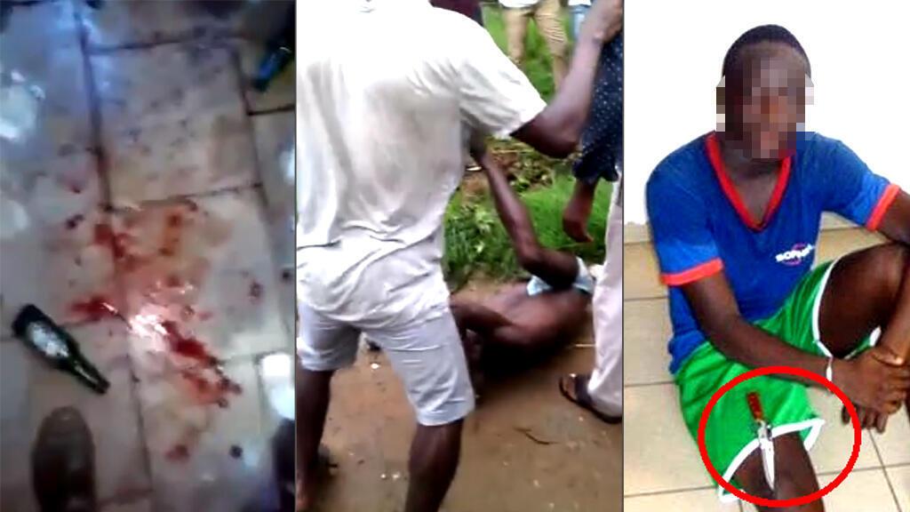 """Les incidents impliquant des """"microbes"""" se multiplient à Abidjan. À gauche, l'attaque d'une boîte de nuit à Marcory. Au centre, le lynchage d'un présumé """"microbe"""" à Yopougon. À droite, l'arrestation d'un """"microbe"""" à Marcory."""