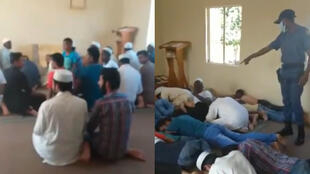 In South Africa, police arrested a group of Muslims who ignored lockdown orders and met to pray together on the first day of Ramadan. During the arrest, one officer made comments widely considered to be disrespectful and blasphemous. (Screengrab)