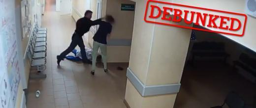 This 38-year-old man attacked two nurses in the corridor of a hospital in Novgorod in Russia.