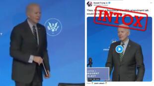 Joe Biden semble perdu et égaré
