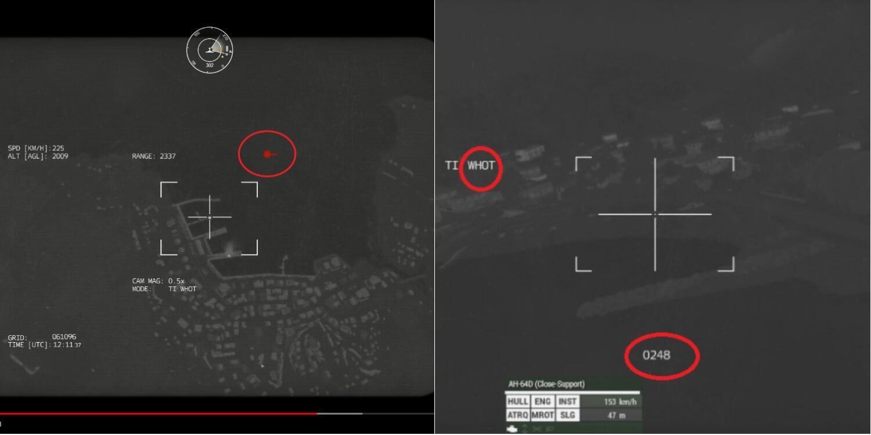 صورة ملتقطة من فيديو تم تقديمه على أنه يظهر قصف طائرة بدون طيار تركية لمواقع كردية في سوريا