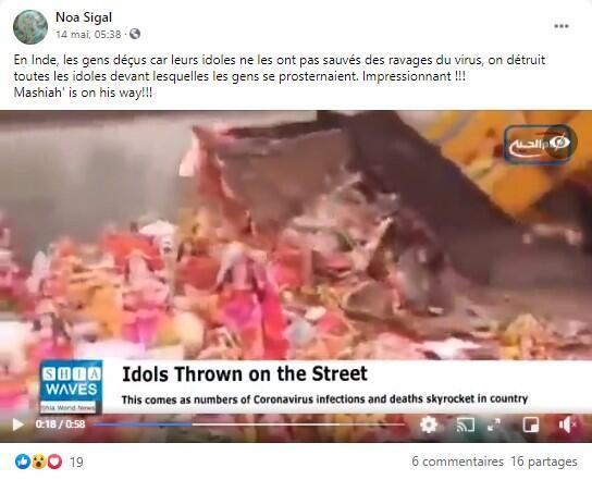 Sur Facebook, la vidéo a été partagée des dizaines de fois dans plusieurs langues.