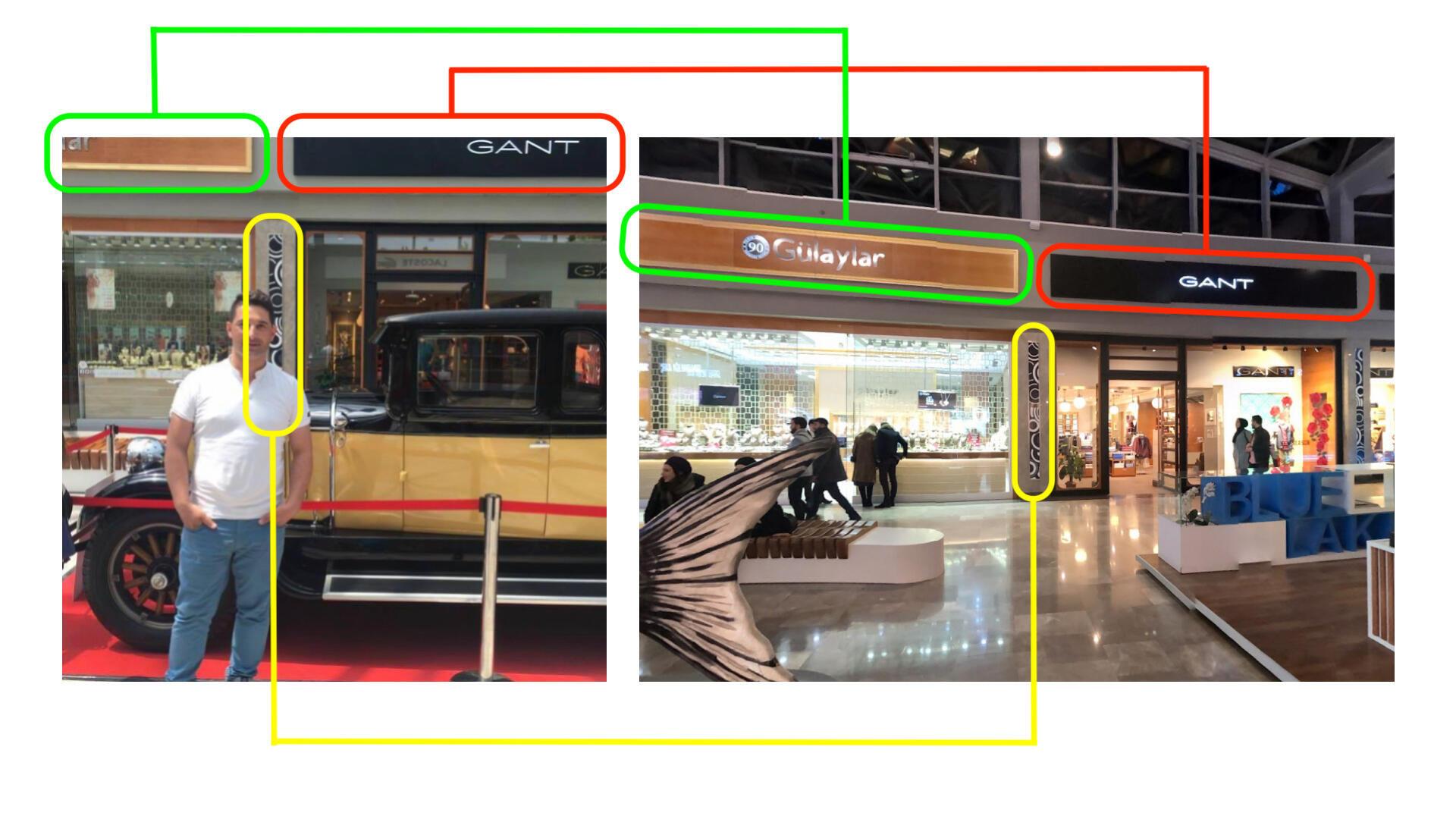 À gauche, photo partagée sur le compte Facebook de Rob Petrosian. À droite, capture d'écran de Google Streetview du centre commercialAqua Florya.