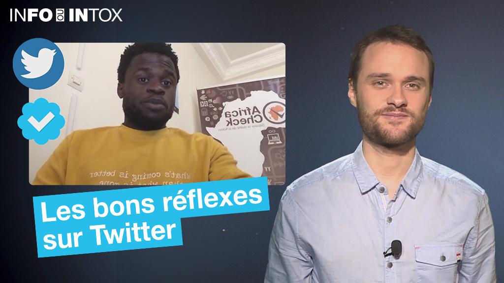 Pour bien utiliser Twitter, quelques réflexes de base s'imposent. Alexandre Capron des Observateurs et Hyppolite Valdez Onanina de Africa Check font le point dans cet épisode de Info ou Intox.