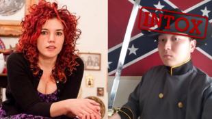 Ces deux personnes ont été présentées comme des victimes de l'attaque, pour la jeune fille à gauche, comme le présumé assaillant, à droite.