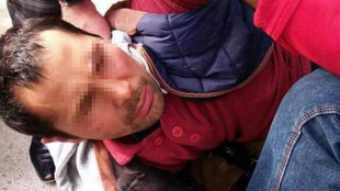 L'homme attaqué est originaire du Kirghizstan, photo amateur publiée sur Twitter.