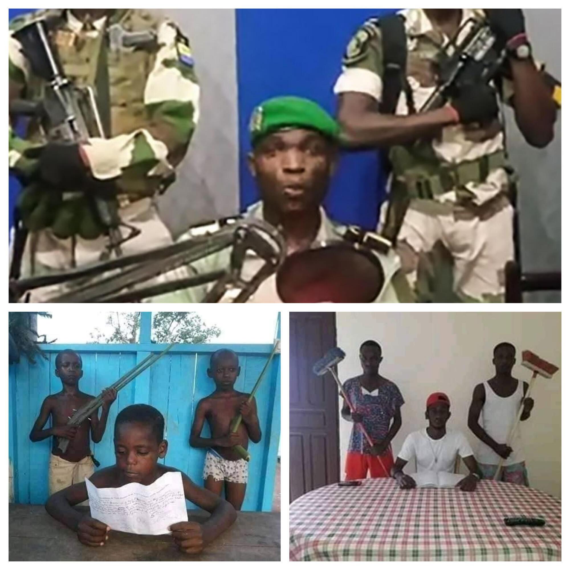 Les internautes africains rejouent la scène de l'allocution à la radio lors du putsch manqué au Gabon