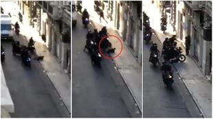 Screengrabs of the video (below), which was filmed on December 18, in Buenos Aires, the Argentinian capital.