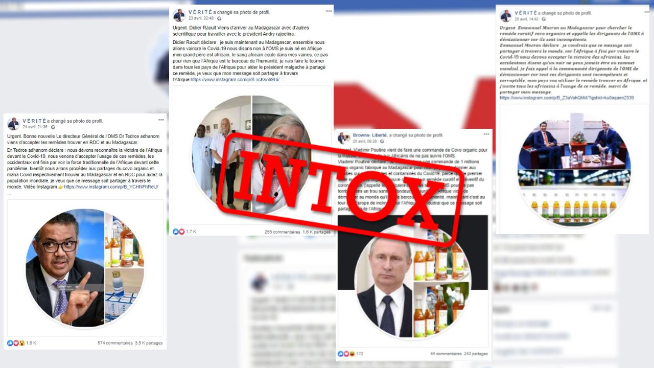Si vous avez reçu une de ces publications sur Facebook ou WhatsApp, vous êtes victime d'un réseau de désinformation basé en République démocratique du Congo.