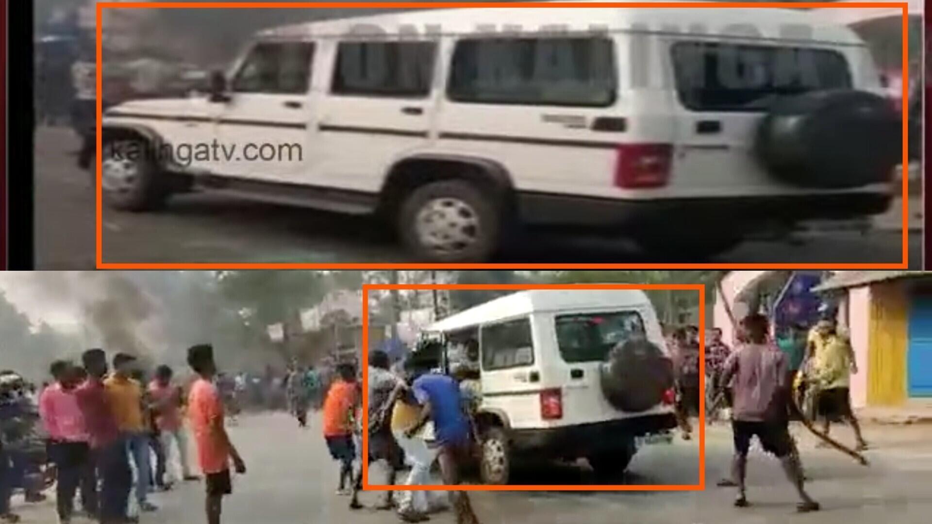 La voiture montrée par Kalinga TV est bien celle que l'on retrouve dans la vidéo virale.