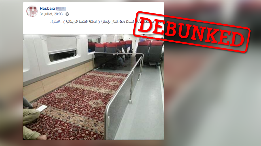 A prayer carpet in a London train? What this image really shows.