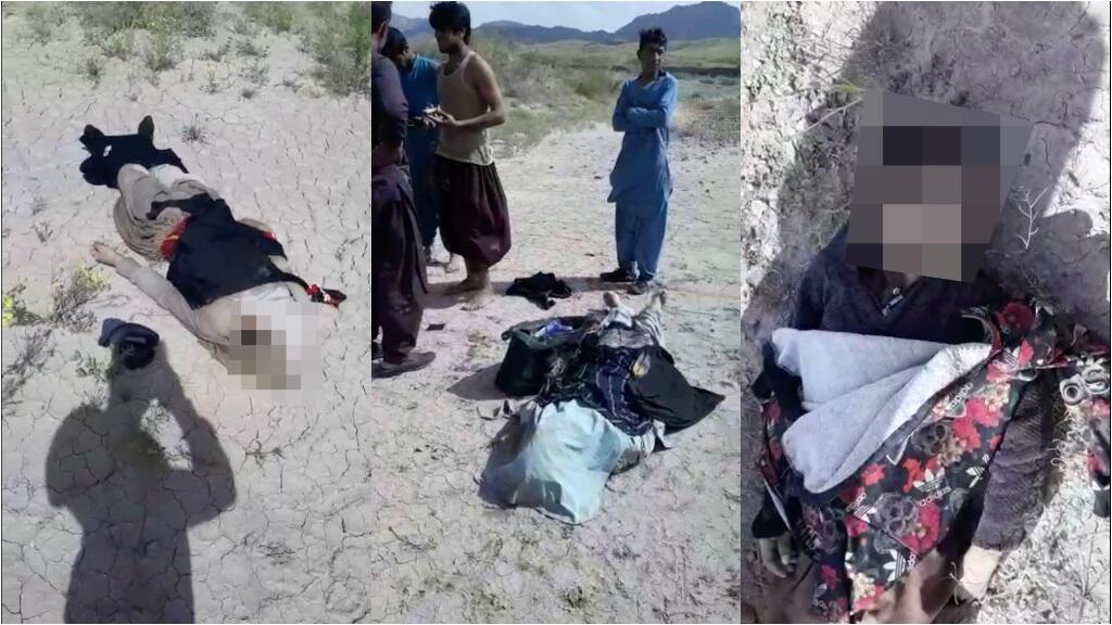 Des vidéos amateur relayées sur les réseaux sociaux en Afghanistan montrent des corps de migrants afghans noyés après avoir été contraints de traverser le fleuve Hari Rûd qui sépare l'Iran et l'Afghanistan, le 1er mai 2020.
