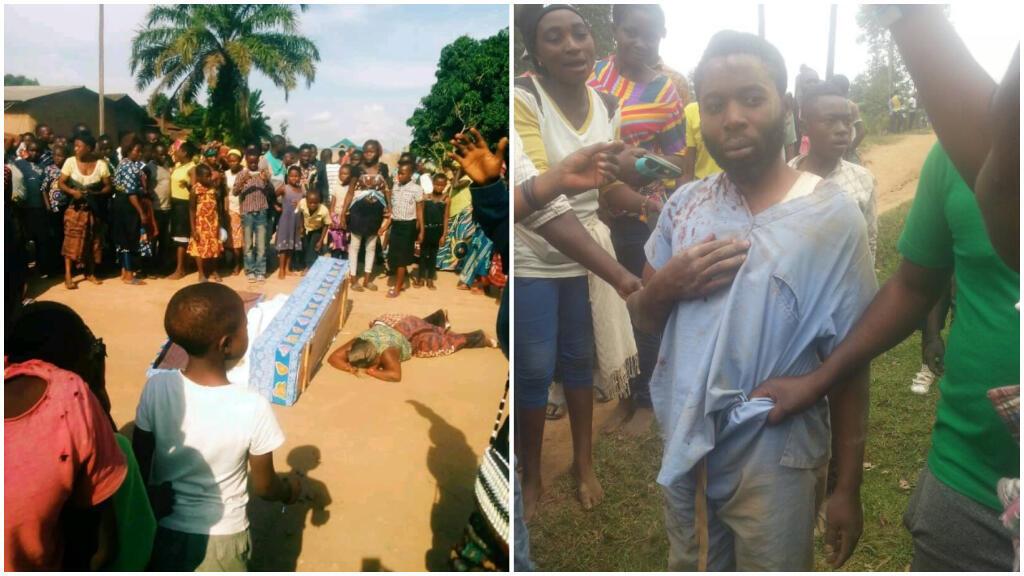 Des images partagées sur les réseaux sociaux font état d'incidents lors d'enterrements de sécurisés de victimes d'Ebola à Beni et Butembo. Captures d'écran / Twitter.