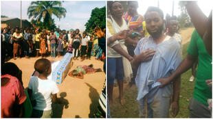 Images shared on social media show burials of Ebola victims interrupted, in Beni and Butembo. Screengrabs from Twitter.