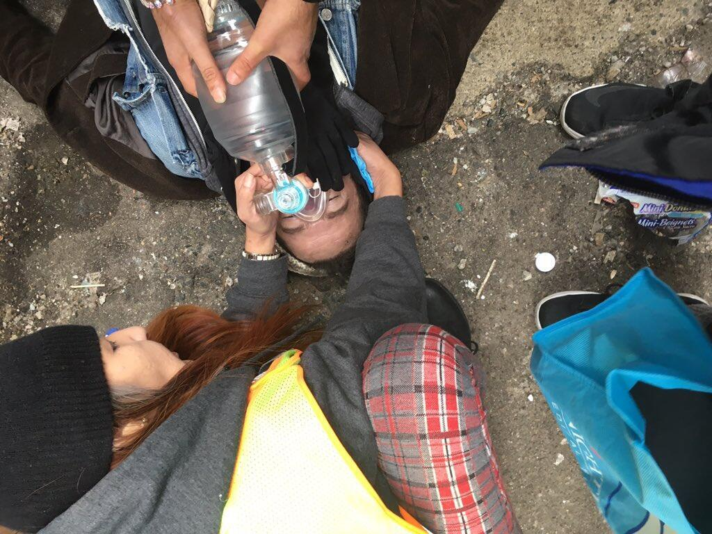 An overdose in an alley, Vancouver's Downtown Eastside neighbourhood. Photo sent by our Observer Sarah Blyth.