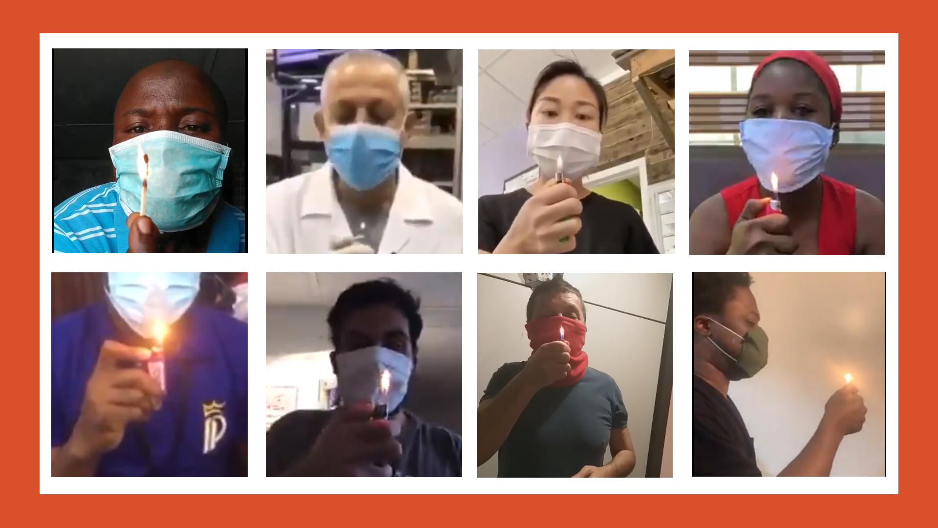 De nombreux internautes se sont mis en scène en train de souffler sur une flamme pour prouver l'efficacité de leurs masques. Mais ce test a-t-il une quelconque efficacité ?
