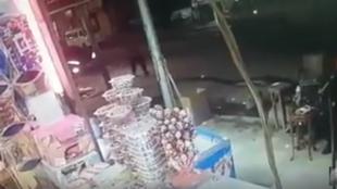 Capture d'écran de la vidéo de surveillance quelques secondes avant le crime