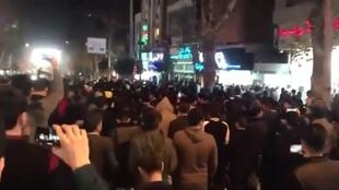 Protest in Gorgan, in the north of Iran, on December 30.