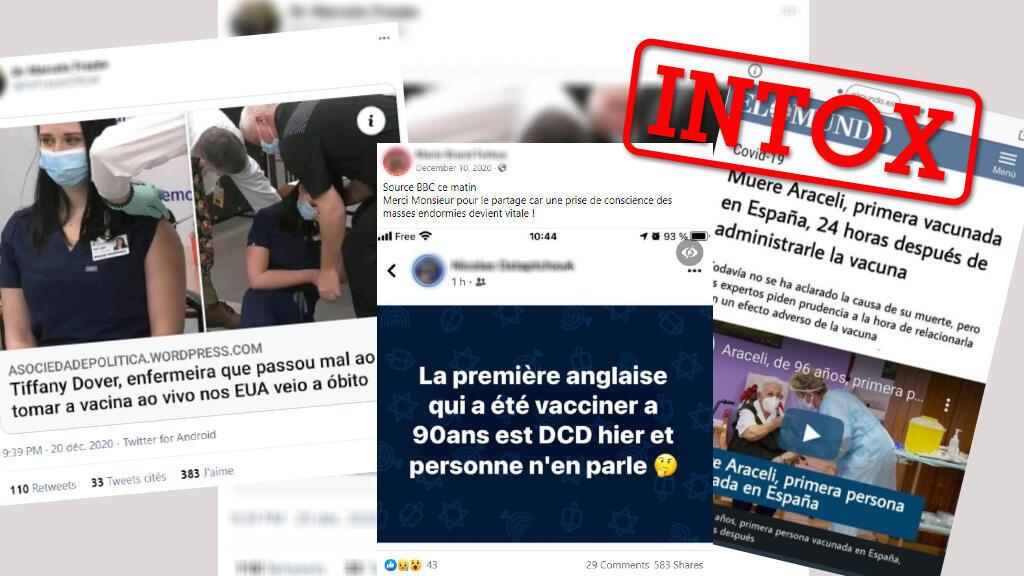 En France, en Espagne, au Royaume-Uni... les premiers patients vaccinés seraient-ils décédés ? D'un pays à l'autre, la même rumeur circule pour mettre en cause le vaccin.