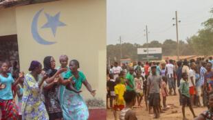 في غينيا، سكان يعيدون فتح المساجد بالقوة بالرغم من تواصل حالة الطوارئ الصحية. صورة التقطها عبدولاي كايتا.