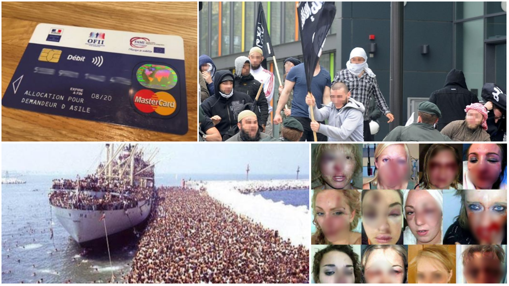 Several images that were misappropriated and used to manipulate public opinion on the migration crisis.