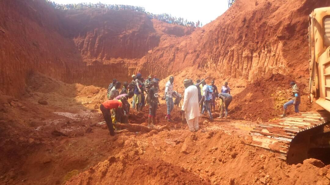 Photo de l'association Forêts et Développement Rural (FODER) prise le 30 décembre, sur le site minier où s'est produit l'éboulement, dans l'est du pays..