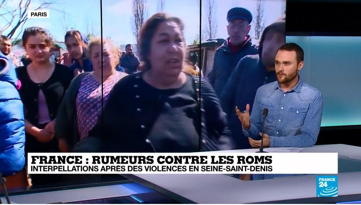 """Une rumeur de """"camionnette enlevant des enfants"""" a entraîné des réactions hostiles envers des membres de la communauté Roms."""