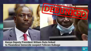 Screengrab of a fabricated news report circulating on WhatsApp in Kenya that falsely alleges collaboration between Kenyan Deputy President William Ruto and Rwandan businessman Felicien Kabuga, accused of financing the Rwandan genocide.