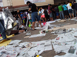 Litter covers the ground by Our Lady of Peace Cathedral in Antipolo City, Philippines after a pilgrimage held on Holy Thursday, April 13, 2017 (All photos by Aileen Lucero, posted on the EcoWaste Coalition blog)