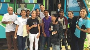 The Panabus team drives around Caracas from Monday to Friday. (Credit: Panabus/Facebook).