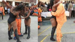 """Les photos de cette animation dans le centre pénitentiaire """"Sun City"""", à Johannesburg, ont fait scandale sur les réseaux sociaux."""