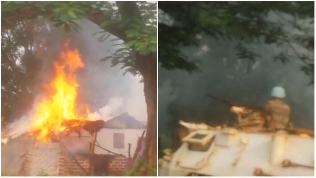 Capture d'écran de la vidéo ci-dessous, tournée à Bria, dans le quartier Piango, le 20 juin.