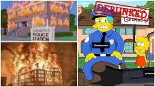 These tweets claim that The  Simpsons predicted the current protests sweeping the United States after the murder of George Floyd.