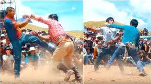 """Capture de la vidéo ci-dessous, produite par """"Fameco producciones""""."""