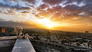 One of the photos published by parkour star Alireza Japalaghi on his Instagram account.